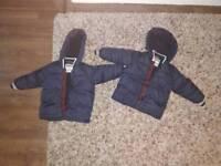 Twin winter coats 3 years old. Jasper conran.