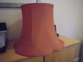 """LARGE SOFT PINK QUALITY LAMPSHADE. 16"""" WITH PETAL SHAPED RIM. JOHN LEWIS PURCHASE."""