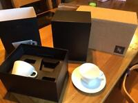 Nespresso pure cappuccino cups & saucers
