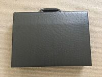 Ostrich leather briefcase