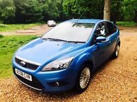 Stunning (08) Ford Focus 1.8 Titanium 5Dr Sky blue 55kMiles low mileage and new mot services history