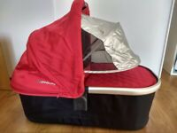 UPPAbaby Denny Red Carrycot - Fits UPPAbaby pushchairs Vista 2015 and later, Cruz, Alta