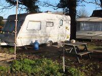 Caravan in quiet, scenic rural location
