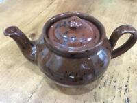 Traditional artisan potter made 1:1/3 pint brown teapot
