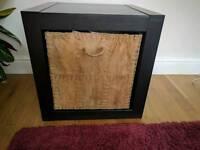 IKEA black brown cube with storage basket