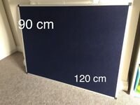 Noticeboard with Fixings and Aluminium Trim W1200x900mm - Blue