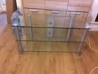 Tv glass stand vgc collection only
