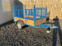 """NEW 7ft x 4ft 4"""" HIGH MESH SIDE TRAILER ( quad lawn mower tractor power washer )"""
