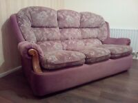 3 seater couches & 2 leather couch