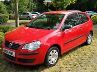 VW Volkswagen Polo 2006 in red with full 12-months MOT, low mileage (67k) and full service history