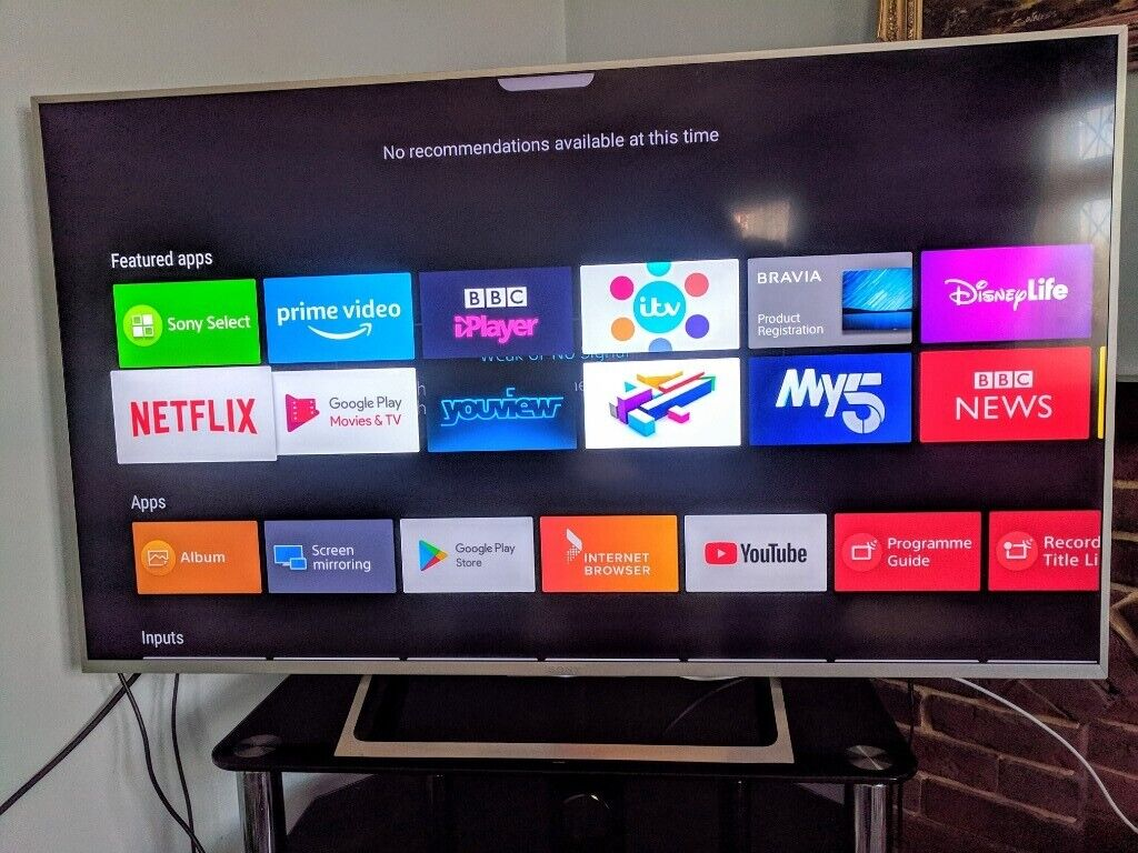 SONY 55 INCH SILVER HDR 4K ANDROID TV | in Chingford, London | Gumtree