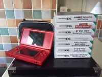 Nintendo DS Lite and 7 games
