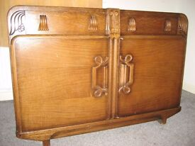 Vintage 30s 40s Sideboard Oak Veneer Shabby Project or Use as it is