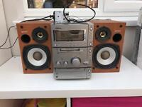 Excellent Sony Hi Fi/Stereo with cassette, CD & Mini Disc Player