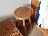 Two oak stools