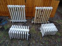 Edwardian Cast Iron Radiators. Set of 4.
