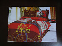 NEW Boys King of Pirates Duvet Cover Set by Le Vele TWIN SIZE