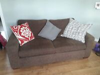 Brown 2 Seater sofa & Armchair set