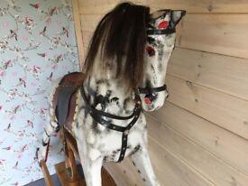 Beautiful old dapple grey rocking horse