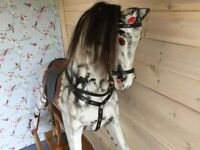Beautiful old dapple grey rocking horse