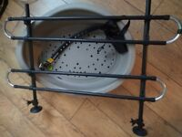 Dog Accessories: Basket, Collar, Lead, Muzzle and Rack