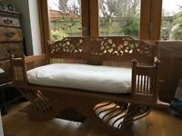 Wooden Double Seated Chair Bench