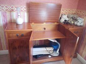 Walnut veneer bespoke Audio cabinet