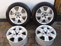 "16"" Ford Alloy Wheels - Made by Ronal - 5 x 112 - Fit VW - Seat - Mercedes - etc."