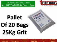 Pallet Of 20 Sealey B/25KG Shot Blasting Grit 25kg Bag