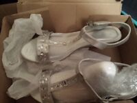 Brand new Wide fit sandal silver , size 8