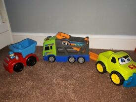 3 x large car toys