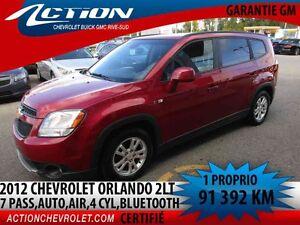 2012 CHEVROLET ORLANDO 2LT,7 PASS,AUTO,AIR,BLUETOOTH