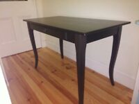 Ikea LEKSVIK Desk (solid pine, black).