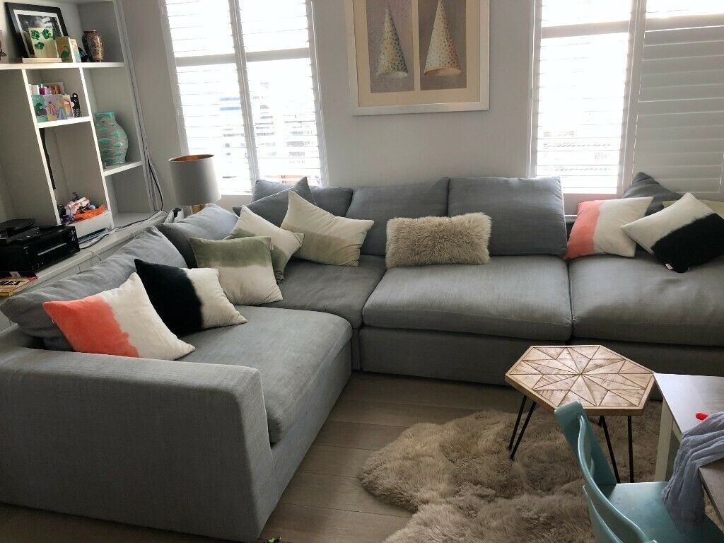 Super Long Island Sofa From Sofadotcom In Nickel Pure Belgian Linen Original 3K 1 Yr Old In Camden London Gumtree Interior Design Ideas Clesiryabchikinfo