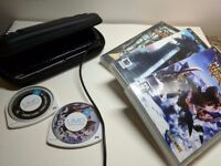 PSP + charger + games, Worn only aesthetically