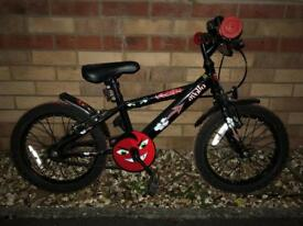 Boys Appollo 16 inch bike with stabilisers