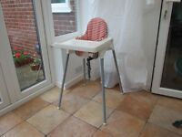 Baby's High Chair with tray and supporting cushion and cover