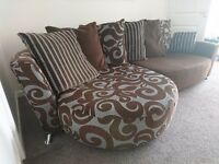 4 seater scatter back brown fabulous comfy sofa