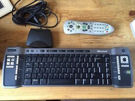 Microsoft Media Center MCE Keyboard, MCE Remote and IR Sensor