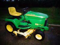 """John Deere gx355 ride on lawnmower, diesel 48"""" 3 bladed convertable deck, mulch or side discharge"""