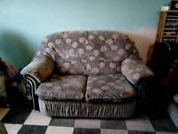FREE FOR COLLECTION Two sofas and two stools FREE