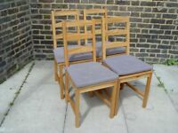 FREE DELIVERY Four Wooden Chairs Kitchen Dining Furniture