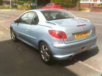 PEUGEOT 206CC CABRIOLET NEW MOT AND JUST SERVICED