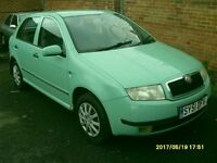 DIESEL SKODA FABIA 1.9 cc TDI..2 RED LINE HIGH HP..5 DOORS..GREEN..MOT..FULL S H