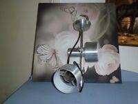 light fitting stainless steel vintage