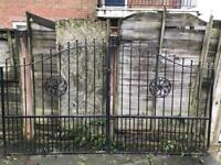 Rought iron drive gates