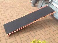 Car boot dog ramp folds