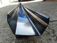 FloPlast Square gutter - Black - 4 meter length 114mm x 60mm - Brand New