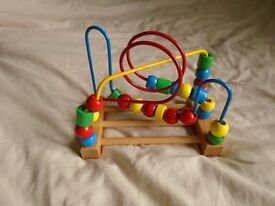 WOODEN BEAD ON WIRE TOY