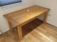 Solid French Oak extending dining table